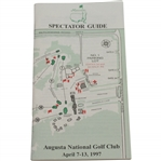 1997 Augusta National Golf Club Masters Spectator Guide - Tigers First Masters Win!