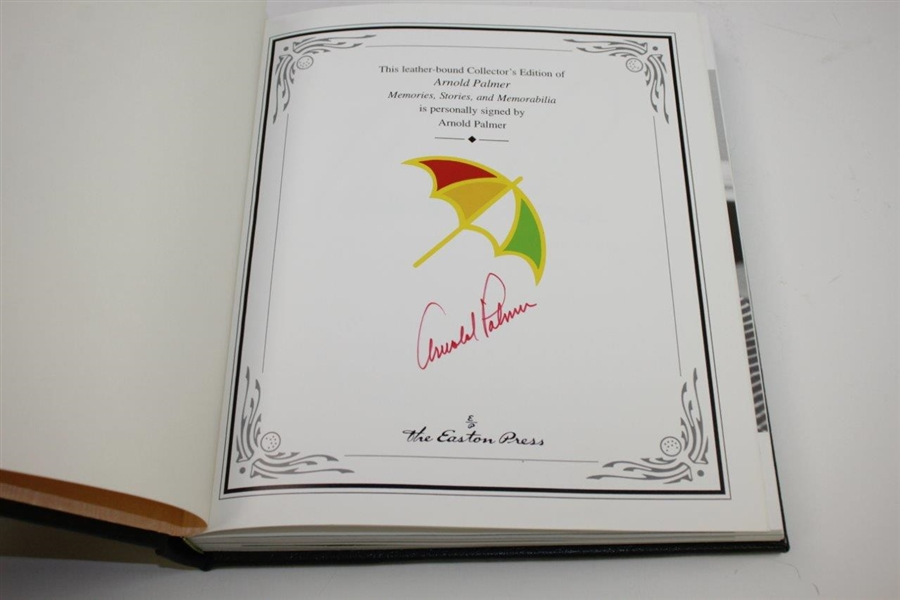 Arnold Palmer Signed Leather Collector's Edition 'Arnold Palmer: Memories, Stories, & Memorabilia' JSA ALOA