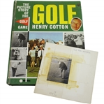 Henry Cottons Personal Back Stamped Old Tom Photo Used in Book - Book Has Hand-Written Notes