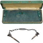 Vintage Sterling Silver Lambert Bros. The Reddy Tee 2-Tee Set with Chain in Original Box