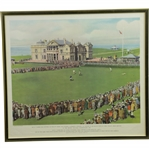 1930 Bobby Jones Putting on 18th Green All Square Against Tolley at St. Andrews - Framed