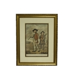 To The Society of Golfers at Blackheath Engraving Print by Abbott - Framed