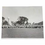 1964 Western Open Pro-Am Championship 10 1/2x8 1/2 Wire Photo Arnold Palmer Teeing Off 8/5/64