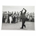1960 OPEN Championship 8 1/4x6 1/4 Wire Photo of Palmer Driving with Player Watching