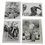 Four (4) Arnold Palmer 1965 PGA Championship at Laurel Valley 7x9 Wire Photos