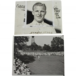 1933 US Open at North Shore GC Wire Photos - Johnny Goodman & Ralph Guldahl