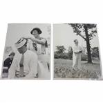 1933 US Open at North Shore GC Wire Photos - Wiffy Cox & Joe Kirkwood