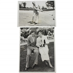 1933 US Open at North Shore GC Wire Photos - Phil Perkins & Guldahl with Wife