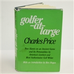 1982 Golfer-At-Large Authors Copy Book by Charles Price - The Charles Price Collection