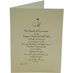 Bobby Wadkins 1987 Masters Tournament Invitation from Augusta National Golf Club