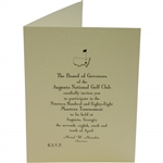 Bobby Wadkins 1988 Masters Tournament Invitation from Augusta National Golf Club