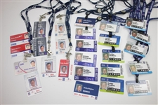 Bobby Wadkins Champions Tour ID Badges - 2006 & 2008-2018 - 26 Total