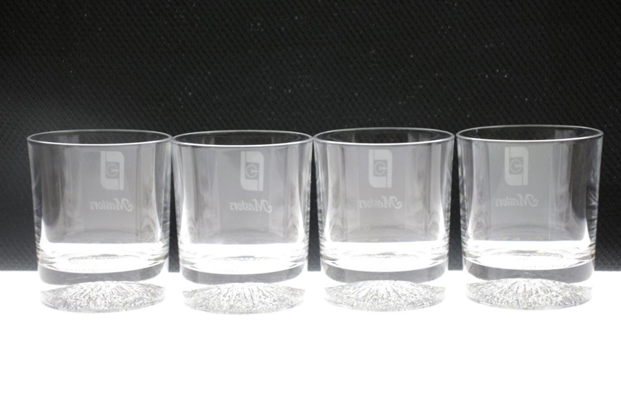 Bobby Wadkins' Set of Four FootJoy Undated 'Masters' Rocks Glasses