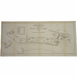 1888 Colored Troon Golf Links Course Map by Maclure Macdonald & Co. Lithographers Glasgow