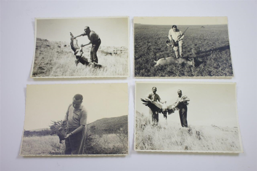 Walter Hagen Personal Vintage 'World Tour' Photos - Golfing, Hunting, Pyramids, Safari, and more!
