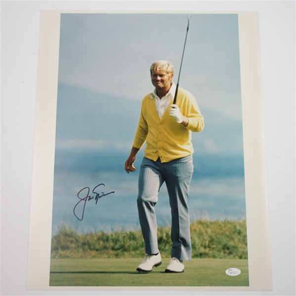 Jack Nicklaus Signed 1972 US Open at Pebble Beach 16x20 Photo JSA #AA61719