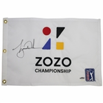 Tiger Woods Signed ZOZO Championship Embroidered Flag Ltd Ed 69/500 UDA #BAM116622