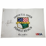 Tiger Woods Signed 2000 US Open at Pebble Beach Embroidered White Flag Ltd Ed 4/500 UDA #BAM54225