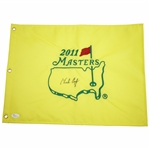Charles Coody Signed 2011 Masters Embroidered Flag JSA #N48553