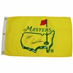 Arnold Palmer & Jack Nicklaus Signed Classic Masters Yellow Flag in Center Logo JSA ALOA