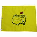 Tommy Aaron Signed Masters Undated Flag with 73 Notation JSA ALOA