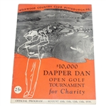 1939 $10K Dapper Dan Open Golf Tournament Program - Ralph Guldahl Winner - Arnies First!