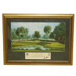 Arnold Palmer Signed 1960 US Open at Cherry Hills CC Print - Framed JSA ALOA