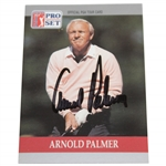 Arnold Palmer Signed 1990 Senior PGA Tour Pro-Set Golf Card JSA ALOA