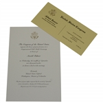 Arnold Palmer Congressional 2012 Gold Medal Ceremony Invitation & Ticket