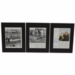 Arnold Palmer, Jack Nicklaus, & Gary Player Big Three Signed Matted Pages JSA ALOA
