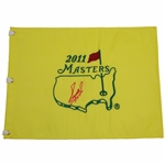 Fuzzy Zoeller Signed 2011 Masters Embroidered Flag JSA ALOA