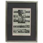 1900 Harpers Weekly Photo Collage Page of Vardon, Taylor, & others - Framed
