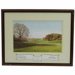 "Ltd Ed ""Around & About with Alliss"" 7th hole at Verulam GC - Sam Ryder Home Club Signed by Artist Peter Alliss"