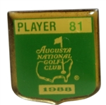 1988 Masters Tournament Contestant Badge #81 - Chip Beck