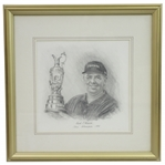 Mark OMeara OPEN Champion of 1998 Original Drawing by Artist Bill Waugh