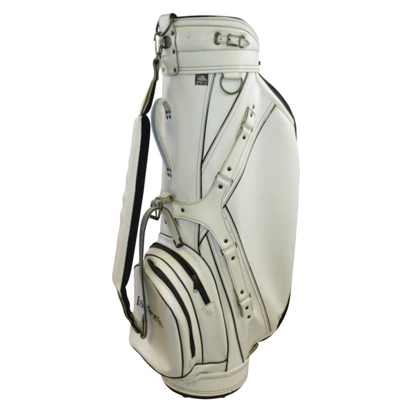 Tiger Woods, Payne Stewart, & Fellow Pros Signed Isleworth (Fla. Home of Tiger) White Golf Bag JSA ALOA
