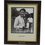 Two-Time PGA Champion Paul Runyan Signed Cut with 8x10 Photo - Framed JSA ALOA