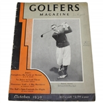 1930 Golfers Magazine with Bobby Jones Grand Slam Content - October