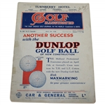 1930 Golf Illustrated Magazine with Dunlop Advert Cover - May 9th