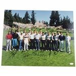 Palmer, Stewart, Nicklaus, Player & 22 others Signed 16x20 Fred Meyer Field Photo JSA FULL #Z99685