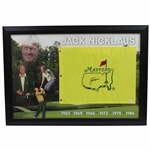Jack Nicklaus Signed Masters Undated Embroidered Flag with Years Won Display JSA FULL #Z91525