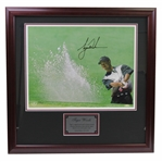 "Tiger Woods Signed Ltd Ed #323/500 Framed Photo ""Sand Trap"" UDA BAJ #10325"