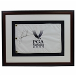 Tiger Woods Signed 2000 PGA Championship at Valhalla Embroidered Flag - Framed JSA ALOA