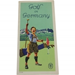 Circa Late 1920s Golf In Germany With Fold-Out Map & Courses Listing Booklet