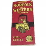 1935 Norfolk & Western Railway Time Tables Booklet - August 26th