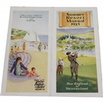 1925 New England the Vacation Land Summer Resort Manual Booklet Listing Golf Clubs & other