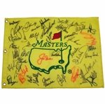 Masters Champs Signed Undated Flag with Jack & Arnie Center - Signed by 39! JSA ALOA
