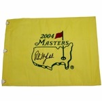 Phil Mickelson Signed 2004 Masters Embroidered Flag JSA ALOA
