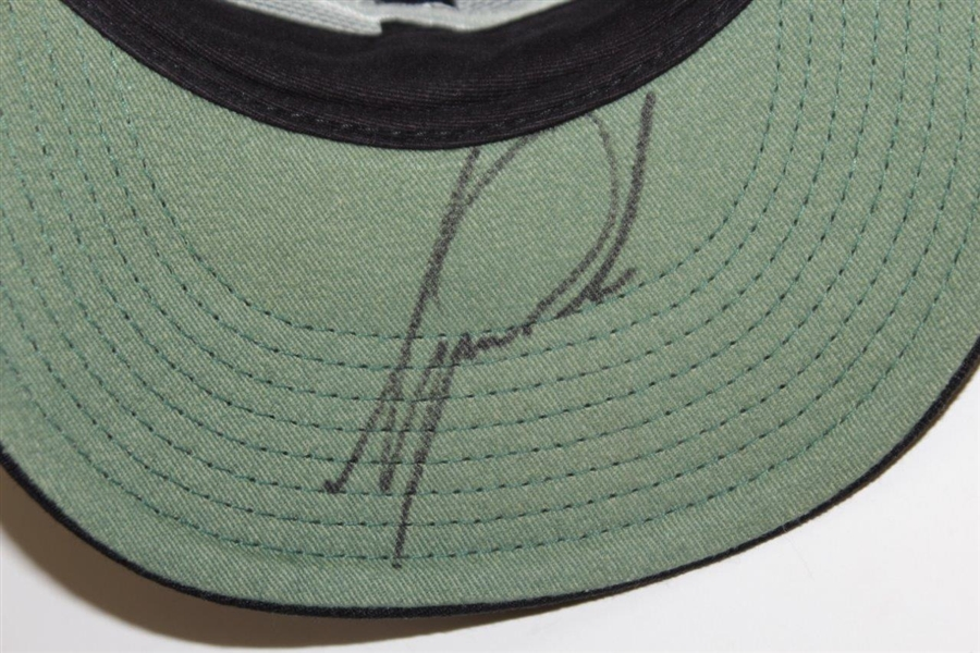 Tiger Woods Signed Black NIKE Size 7 Fitted Golf Hat JSA ALOA