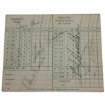 Claude Harmon, Demaret & others Signed Belmont Country Club Scorecard JSA FULL #BB50943